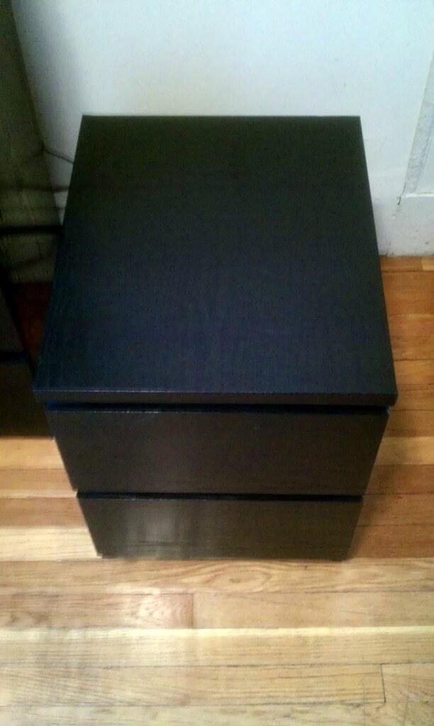 Ikea Malm Nightstand Black