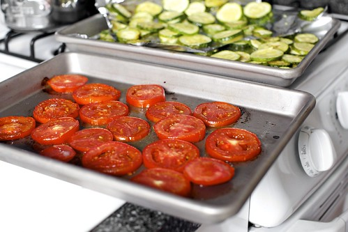lightly roasted tomatoes and zucchini | by smitten kitchen