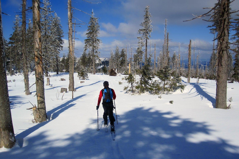 Jarní skitouring na hřebeni Šumavy