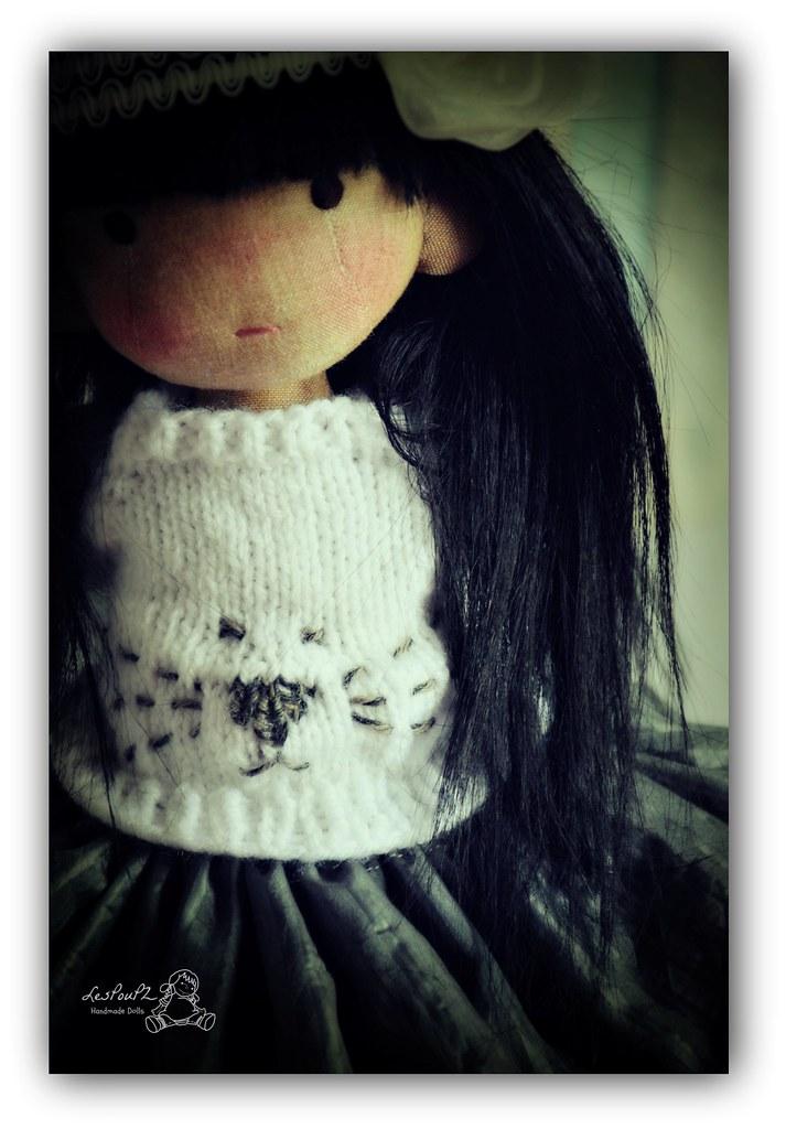 Leotie, natural Fiber Doll, by LesPouPZ