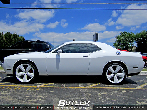 Dodge Challenger With Custom 22in Srt8 Wheels Additional