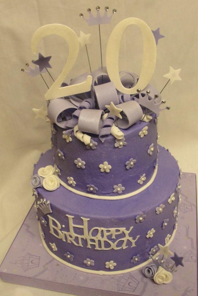 Purple 20th Birthday Cake Cutie Pie Sweets Flickr
