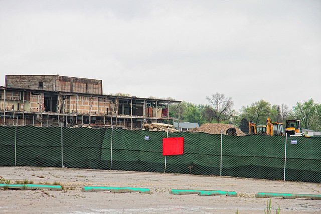 Dixie Square Mall Demolition Continues - 4-30-2012 ...
