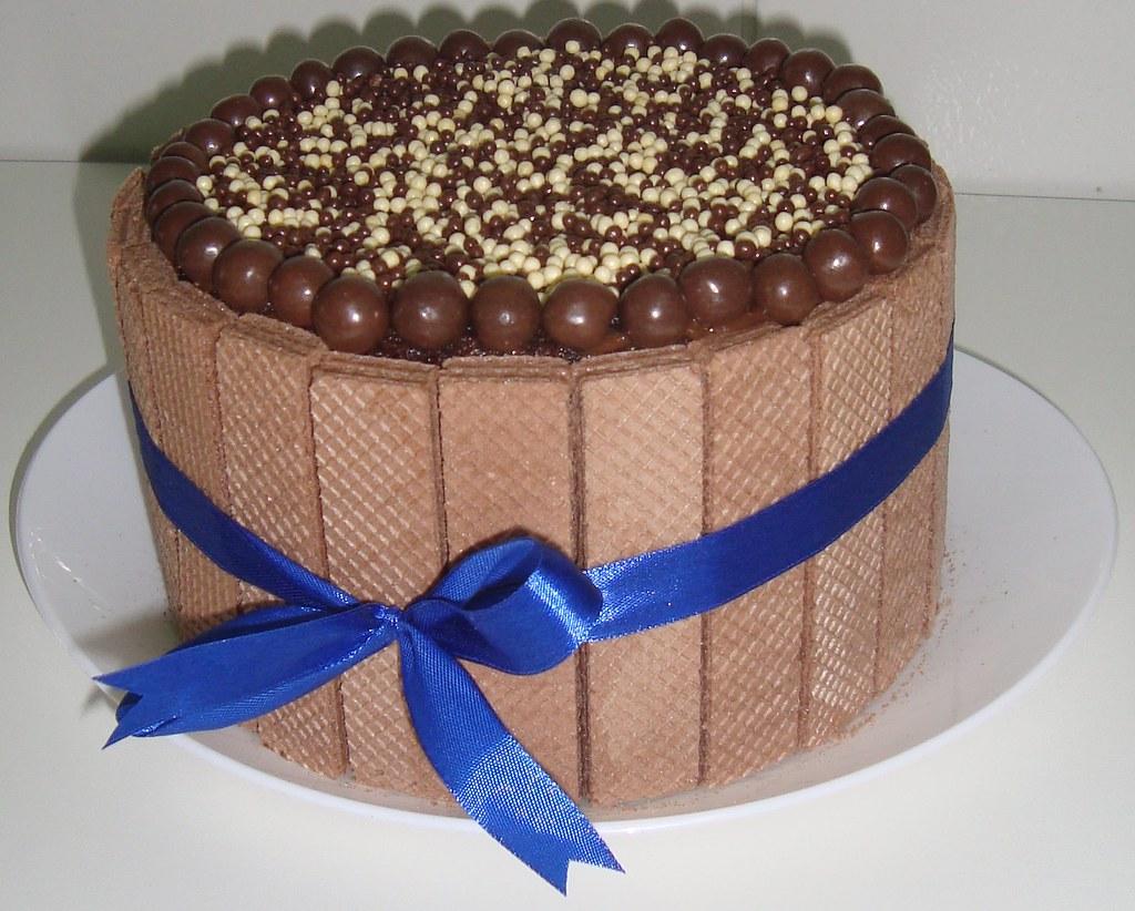 Bolo Brownie C Biscoitos Wafer Encomende J 225 O Seu