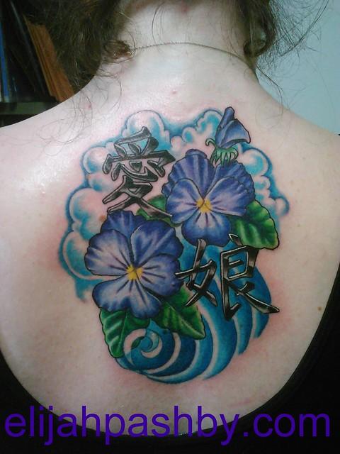 Violet Flowers Tattoos Violet flowers and kan...