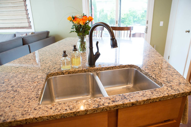 Cambria quartz countertop flickr photo sharing for Oiled bronze faucet with stainless steel sink