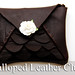 Scalloped Leather Clutch