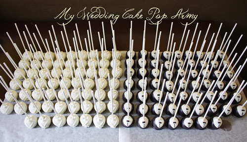 My wedding cake pop army is ready :D | by niner bakes