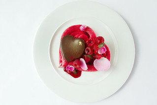 A heart-shaped Pavlova with chocolate and vodka mousse served to complement L'elisir d'amore © Royal Opera House Restaurants 2012 | by Royal Opera House Covent Garden