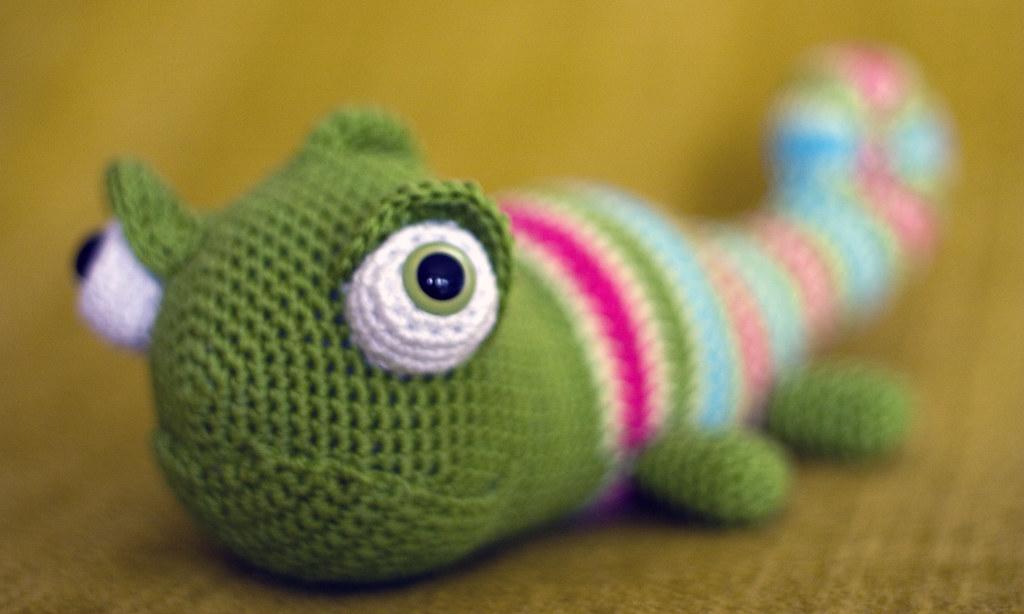 Amigurumi Chameleon : amigurumi chameleon perlinavichinga Flickr