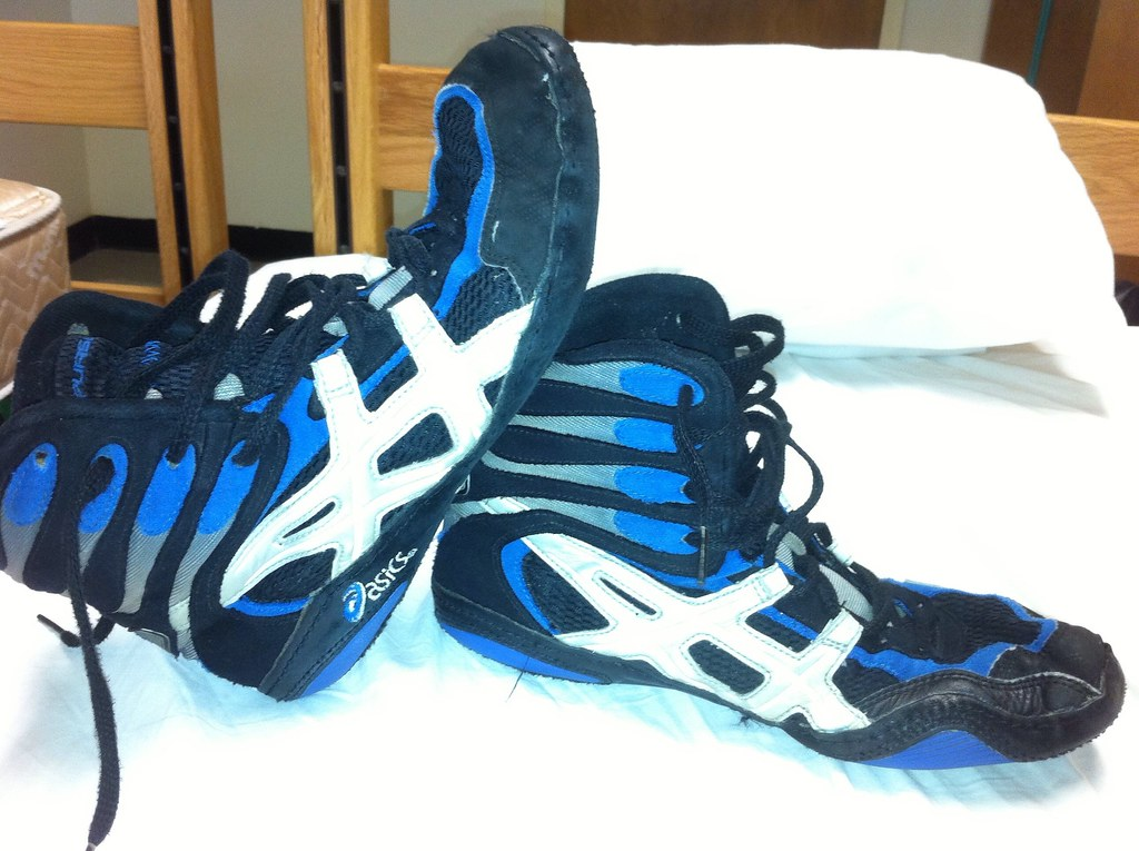 P2 wrestling shoes | Size:10, blue/black | Mdwrestler217 | Flickr