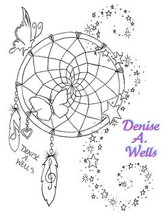 Dreamcatcher Tattoo Design by Denise A. Wells | by ♥Denise A. Wells♥