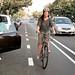 My Neighbor Heather Rides 14th St. Buffered Bike Lane In Santa Monica