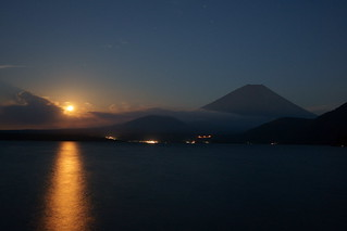 Moon light and Mt.Fuji | by peaceful-jp-scenery (busy)