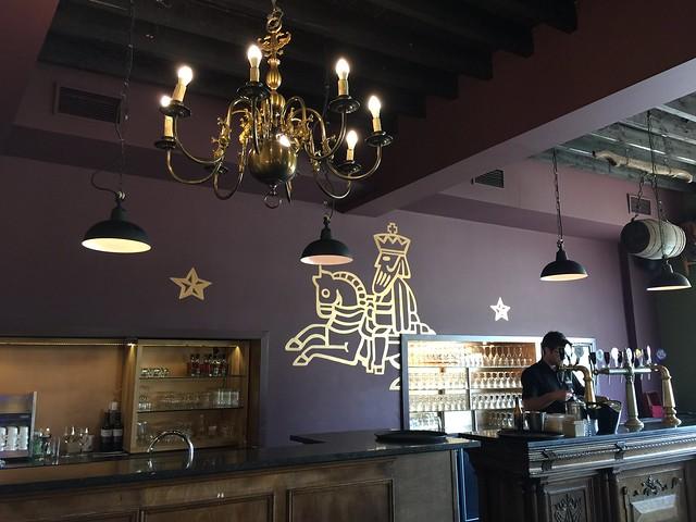 Restaurante de la fábrica cervecera Het Anker en Malinas (Flandes, Bélgica)