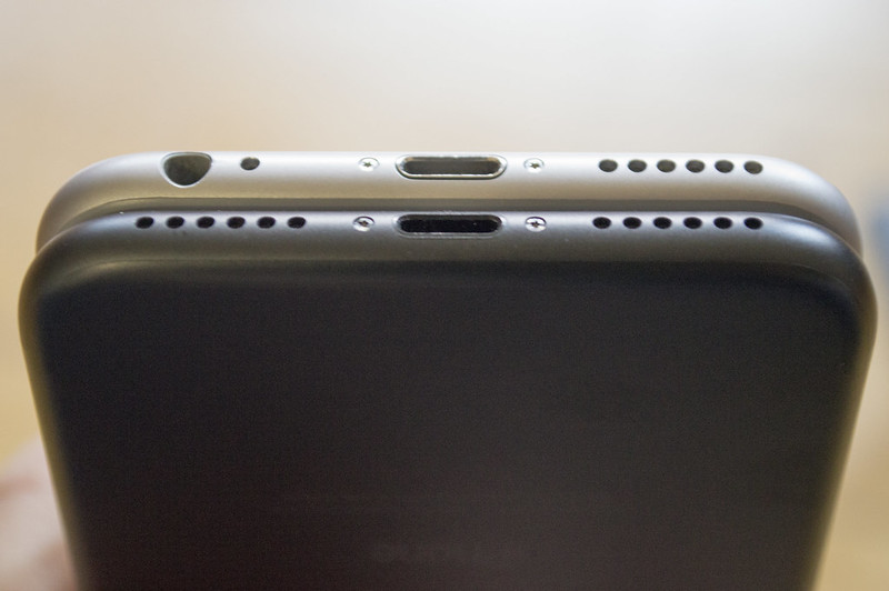 iPhone 6 and iPhone 7 speaker grilles and headphone port