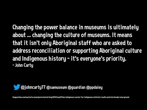 Changing the power balance in museums is ultimately about ... changing the culture of museums @johncarty77