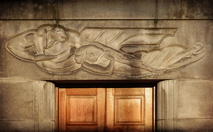 Art deco mural st brendan 39 s nurses home grangegorman for Art nouveau mural