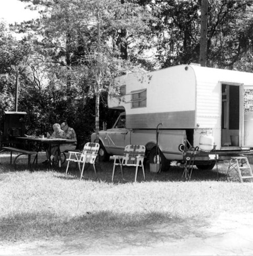 Unidentified people camping at Torreya State Park: Rock Bluff, Florida | by State Library and Archives of Florida