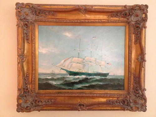 Framed Ship Oil Painting By Robert Sanders 800 Robert