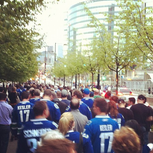 The walk of silence #canucks | by The Pej Media