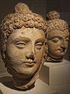 Head of a Bodhisattva Pakistan or Afghanistan Gandharan region 4th-6th century CE Stucco with traces of pigment | by mharrsch