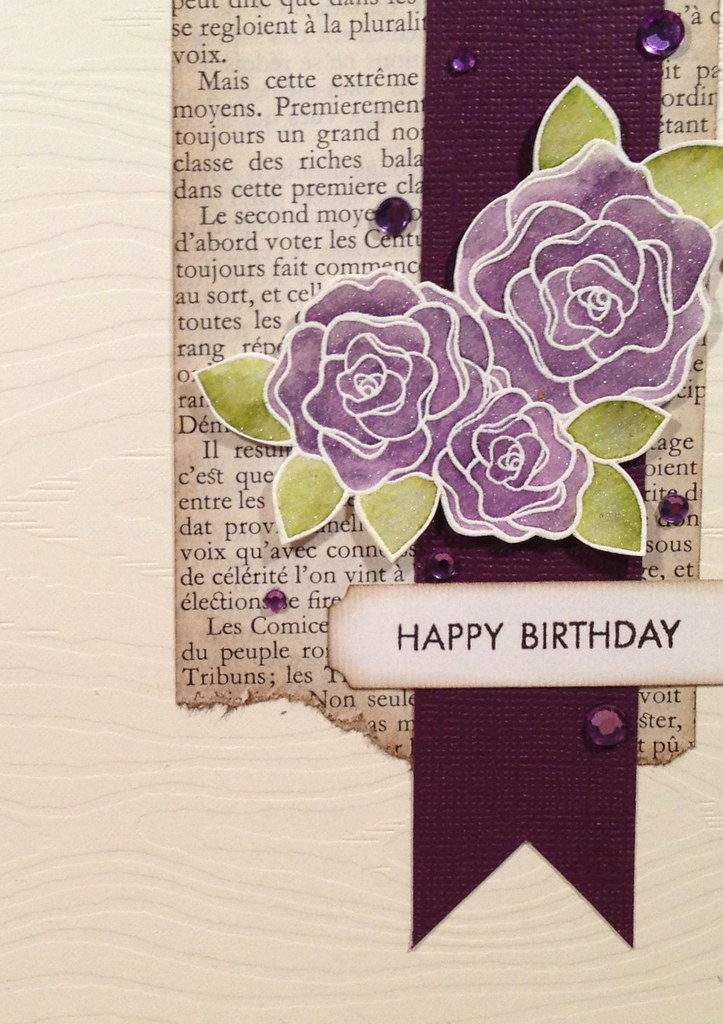 Happy Birthday Purple Roses Purple Roses Happy Birthday