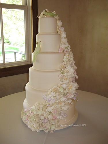 Six Tier Wedding Cake