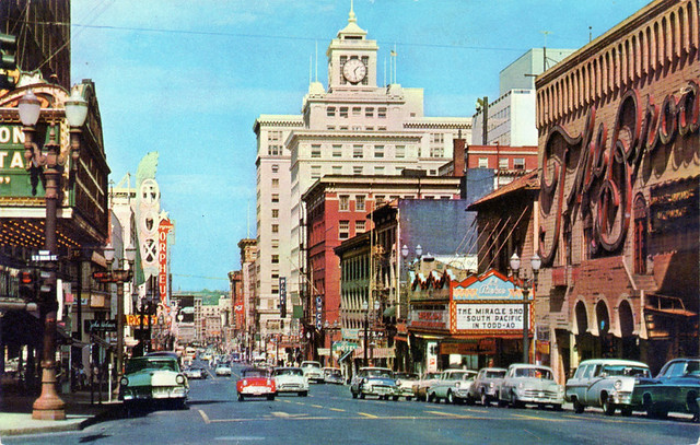 Broadway Downtown Portland Oregon 1950s Flickr Photo Sharing