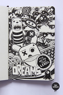Moleskine illustration #49: Dreams//Take me to your leader. (typography) | by Lex Wilson
