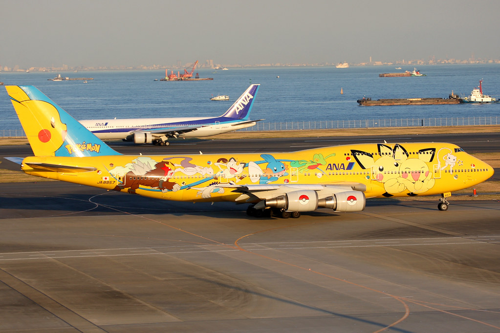 All Nippon Airways Boeing 747 400d Ja8957 Pokemon Li Flickr