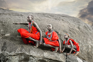 Three Masai Boys Climbing | by David_Lazar