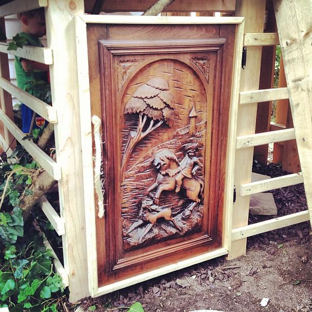 Old Hand Carved Cabinet Door Repurposed As Fort Door Flickr