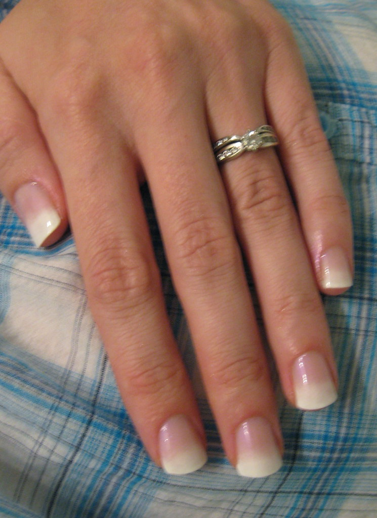 """Gradient French Manicure: """"French"""" Gradient, If You Will. Revlon Lavendar"""
