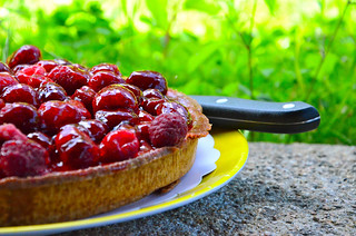 13th June - Raspberry Tart | by The Hungry Cyclist