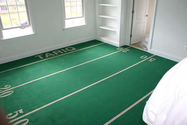 Football Field Carpeting In A House Installed By Atc