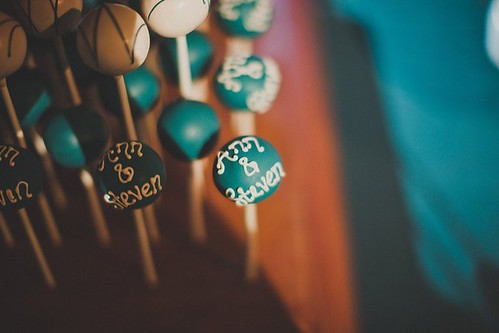 Cake Pops Piped with Bride and Groom's Names | by Sweet Lauren Cakes