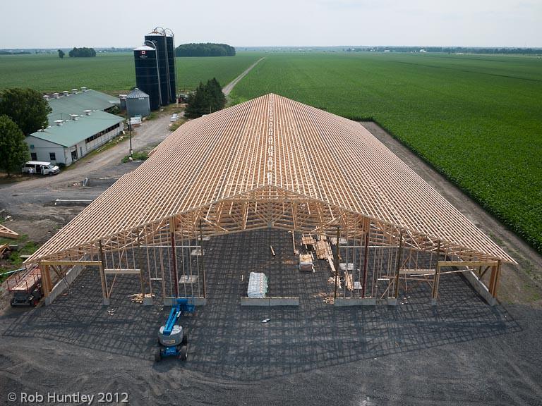 New barn construction richmond ontario dairy farm kite flickr