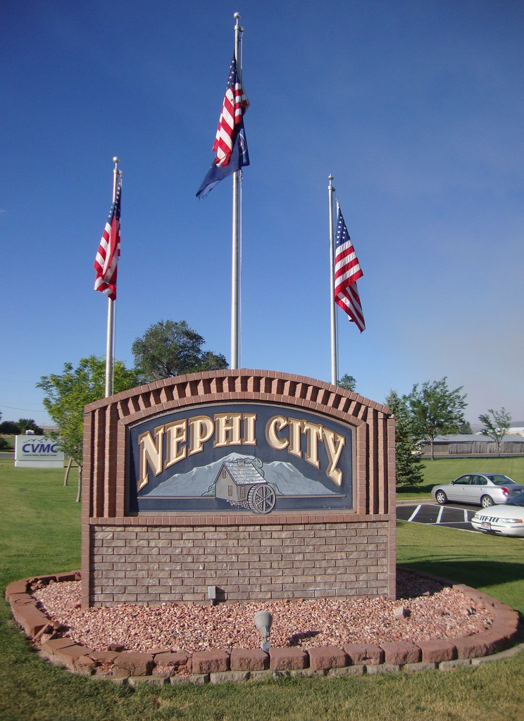 nephi city sign nephi utah nephi is located just south flickr