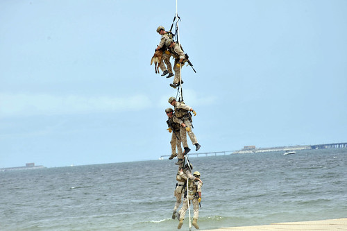 SEALs demonstrate the Special Patrol Insertion/Extraction. | by Official U.S. Navy Imagery