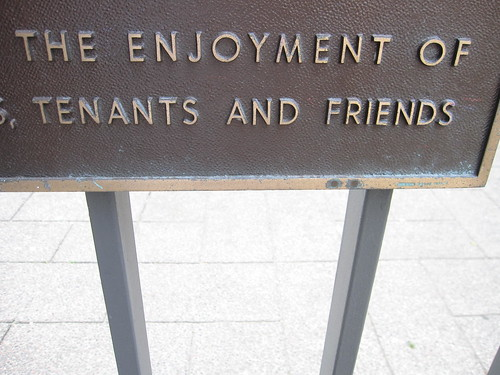 the enjoyment of tenants and friends | by throgers