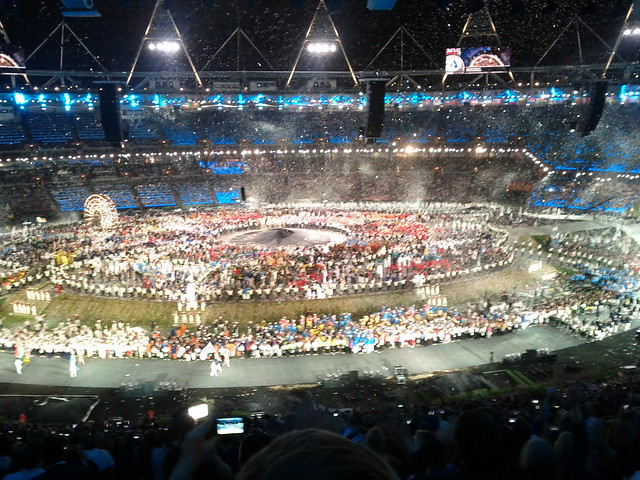 #london2012 #openingceremony enter Great Britain