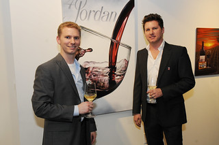 Taber and Bryan Wetz, owners of RISING Gallery, at Jordan Winery's 4 on 4 Dallas Art Competition Hosted by D Magazine at Rising Gallery | by 4on4Art