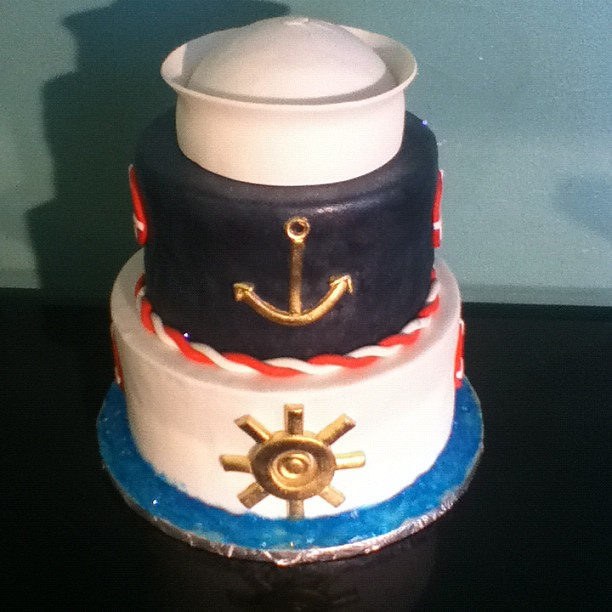 nautical themed baby shower cake gayon donald austin flickr