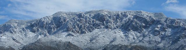 Sandia Mountains Snow Sandia Mountain Snow