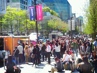 Vancouver food carts on a sunny day | by Canadian Veggie
