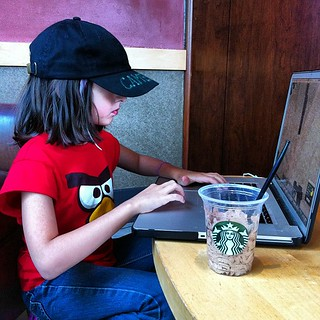 My #Geek #Daughter @Starbucks | by wireless_geek