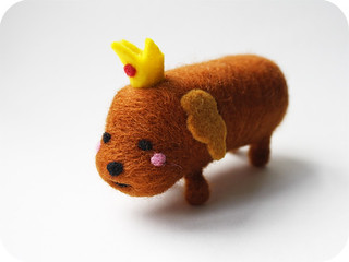 Hot Dog Princess Needle Felted Sculpture | by michelleness