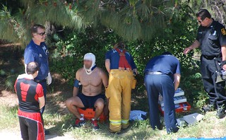Firefighters Rescue Bicyclist Who Fell Down Canyon in Porter Ranch | by LAFD
