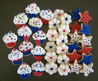 Red white & blue/ mini cookies | by Debs Cookies